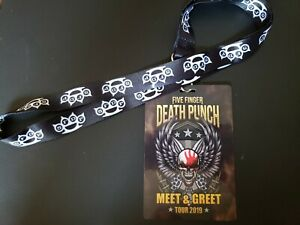 Five Finger Death Punch Collectable Lanyard 5FDP Meet and Greet Merch Swag