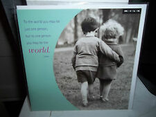 All Occasion Greeting Card New In Plastic Blank Inside MILK Love Sentiment