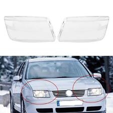 1 Pair Car Headlight Headlamp Cover Plastic JS For VW MK4 Jetta Bora 1998-2004