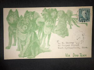 Rare Gethsemani Split Ring Cancel On 1952 Dog Team Card To West Springfield Us.