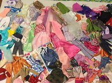 110 PCS HUGE Mixed Lot Of Mattel Barbie Doll Clothes gowns dresses pants more