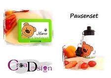 Brotdose Trinkflasche personalisiert Schule Kindergarten Geschenk Kinder Teddy