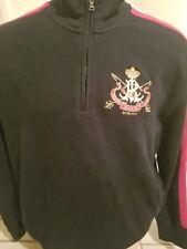 Vintage Polo Ralph Lauren 1/4 Zip Pullover Sweater XL Black Cotton