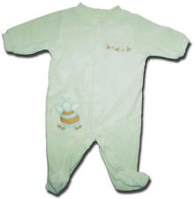 Adorable BABY WORLD (Myer) Size 000 Pale Green Velour BEE Motif Bodysuit