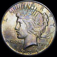 1934-S Peace Dollar Silver  --- GEM BU++ STUNNING --- #L971