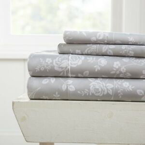 Home Collection Premium Ultra Soft Patterned Bed Sheet Set - 11 Pattern Choices!