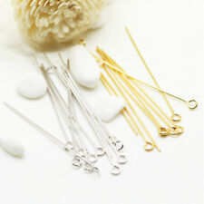 """100x """" 9"""" Shape Eye pins 32mm DIY stainless steel metal for Jewelry light parts"""