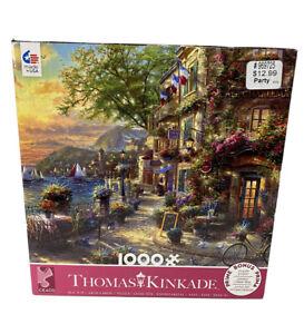 NEW 1000 PIECE JIGSAW PUZZLE BY THOMAS KINKADE - FRENCH RIVIERA CAFE