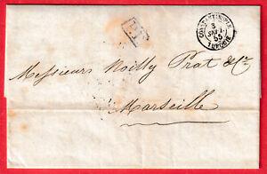 CAD CONSTANTINOPLE TURQUIE TURKEY MARSEILLE BFE 1855 LETTRE