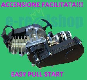motore minimoto mini cross quad 49cc 2 tempi blocco motore completo mini moto