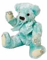"Blue shimmer  Plush Bear Kids of America Corp. Teddy bear 13"" Poseable Vintage"