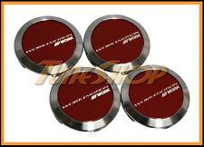 WORK WHEELS CENTER CAPS RED FLAT EMOTION CR ULTIMATE XC8 XT7 XD9 11R KIWAMI RIMS