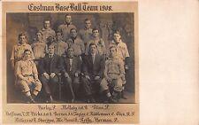 Real Photo Postcard 1908 Eastman Baseball Team in a Photo Studio~108179