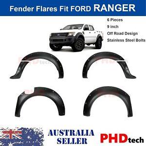 Wrinkle Matt Black Fender Flares Wheel Arch For  FORD RANGER  PX2  2015-2018