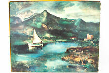 Vintage Carlo Carra REPRO Painting Canvas Art Print Lithograph - Signed #926
