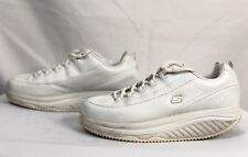 Skechers Shape Ups #76428 Women White Leather Lace Up Shoes Size US 10 EU 40