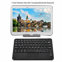 7inch Wireless Ultra-thin Bluetooth Keyboard with Touchpad for Android/Windows