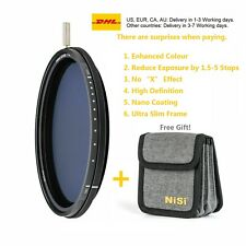 NiSi Filter 58mm ND-VARIO Pro Nano 1.5-5stops Enhanced Variable ND and Bag