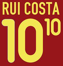 Portugal Rui Costa Nameset 2000 Shirt Soccer Number Letter Heat Print Football H
