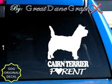 Cairn Terrier Parent(S) - Vinyl Decal Sticker / Color Choice - High Quality
