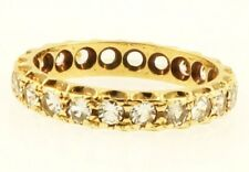 Vintage 9Carat Yellow Gold Spinel Eternity Ring (Size N 1/2) 3mm Wide