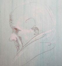 Old man portrait pastel/pencil painting