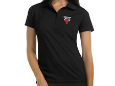 Chicago Bulls NBA Basketball Ladies Embroidered Polo XS-6XL New