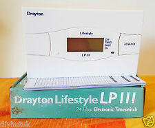 Drayton LP111 24 Hr Programmable Electronic Timeswitch 3 On/Offs per Day