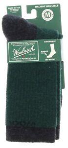 Dark Green Socks Ladies Woolrich Wool Blend Mid Weight Seamless Toe