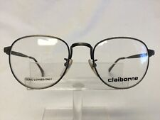 Vintage Claiborne C-529 Eyeglasses Sunglasses Antique Pewter Round
