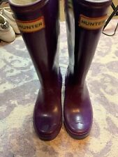 HUNTER original Gloss Dusty Lavender Boots Big Kids Size 5