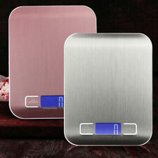 Kitchen Scale Electronic LCD Digital Stainless Steel Food Weighing Measure Home