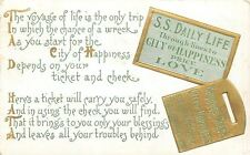 Life's Voyage~SS Daily Life Ticket~Baggage Check for Happiness~Gold Emboss~1912