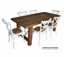 Timber Contemporary Dining Furniture Sets with 7 Pieces