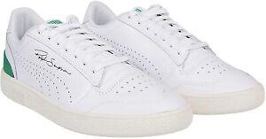 Puma Ralph Sampson Lo Perf Soft White / Amazon Green Leather Trainers UK 6 - 12