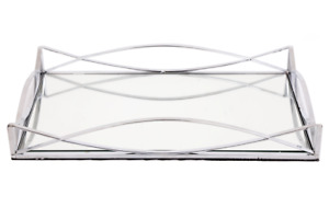 Contemporary Silver Mirror Decorative Tray/Candleplate #OR1391