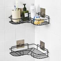 Bathroom Corner Shower Rack Shelf Organiser Adhesive Kitchen Storage Rack Holder