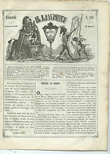 Giornale Satirico Il Lampione Collodi Lorenzini Diritti Re Costituzionale N. 208