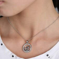 2015 Family Charm Jewelry Crystal Silver Mother And Son Pendant Neckalce Chain