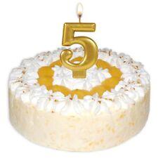 Gold Nummer 5 Geburtstagskuchen Kerze