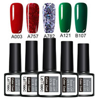 LEMOOC 5 Bottles 8ml Nagel Gellack Soak off Nail Art UV Gel Polish Weihnachte
