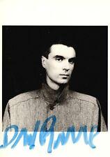 David Byrne vintage autographed Mapplethorpe postcard c. 1983