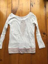 Custo Barcelona White Open back top knit waist rare o/s