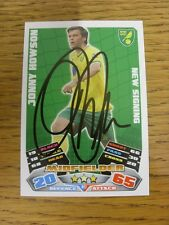 "2011/2012 AUTOGRAFO: Norwich City-HOWSON, JONNY [firmato a mano ""TOPPS MATCH atta"