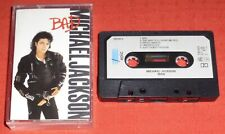 MICHAEL JACKSON - UK CASSETTE TAPE - BAD - WITH PAPER LABELS