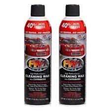 2 Cans FW1 Fast Carnauba Car Wash & Wax Waterless Cleaning Polish Spray Pack
