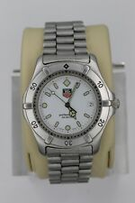 Tag Heuer 2000 Professional WE1122 Watch Mens WK1111 Mint Crystal White Sport SS