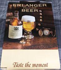 Erlanger Beer / Vintage 1979 Taste The Moment Schlitz Brewing Poster Man Cave