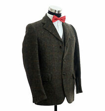 Harris Tweed Dunn & Co Sport Coat Jacket Custom Pockets Made in Great Britain 38