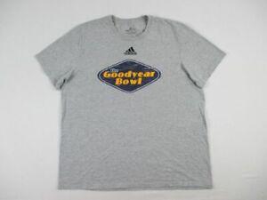 Akron Zips adidas Short Sleeve Shirt Men's Gray Cotton Used XLarge